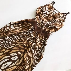 Haven Leopard Print Silk Dress